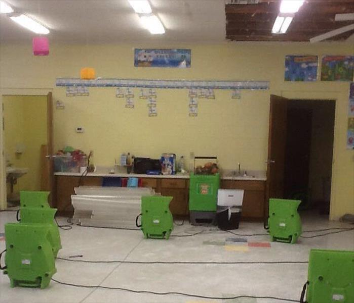Water Damage Strikes a Madison County School