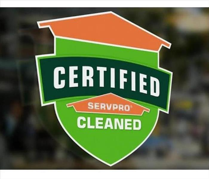 Certified: SERVPRO Cleaned logo